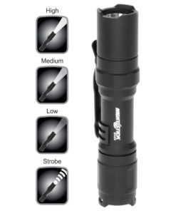 Mini-Tac MT210 Tactical Flashlight 4-inch water resistant aluminum body, .6-inch diameter, tail switch, 120-55-30lm white LED