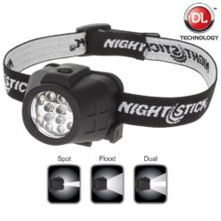 NSP4602B Dual Light Headlamp. Spot Flood operate individually or simultaneously.