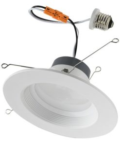 BRK-LED56-BW-XX-ECO thermoplastic downlight with Edison connector. Fits 5 and 6- inch light cans.