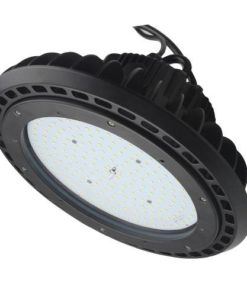 UFO High Bay Light LEDHBRSN100W, 12x12x7 inch, 100W, round aluminum body, dimmable, 13,116lm, DLC Standard