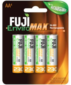 Fuji Battery 9300BP4, AA Rechargeable NiMH, 4 Pack